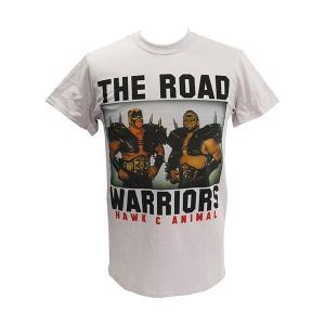 Tシャツ XXLサイズ:WWE Road Warriors(ロード・ウォリアーズ) Classic ライトグレー|bdrop