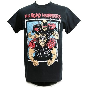 Tシャツ WWE Road Warriors(ロード・ウォリアーズ) Championship Wrestling ブラック|bdrop