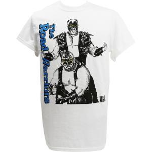 メール便対応: クリアランスセール: Tシャツ WWE Road Warriors(ロード・ウォリアーズ) Dark Side of the Ring ホワイト bdrop