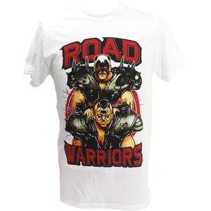 Tシャツ WWE Road Warriors(ロード・ウォリアーズ) Hawk and Animal ホワイト|bdrop