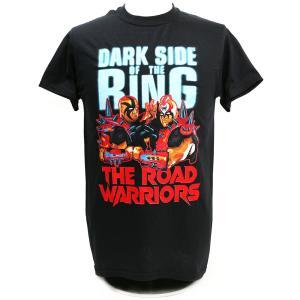 クリアランスセール: メール便対応: Tシャツ WWE Road Warriors(ロード・ウォリアーズ) Dark Side of the Ring The Last Ride ブラック bdrop