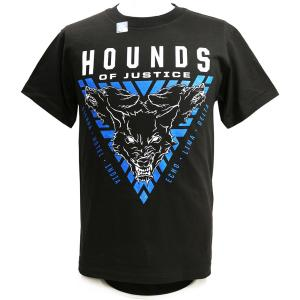 XXLサイズ:WWE The Shield(ザ・シールド) Hounds of Justice ブラックTシャツ|bdrop