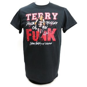 Tシャツ XXLサイズ:Legends Terry Funk(テリー・ファンク) Funk U Kamikaze ブラック|bdrop