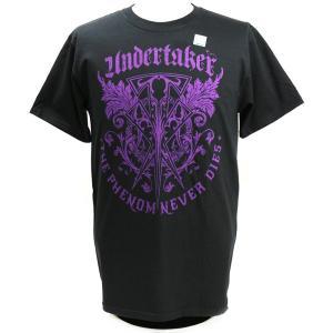 Tシャツ XXLサイズ:WWE Undertaker (アンダーテイカー) The Phenom Never Dies ブラック|bdrop