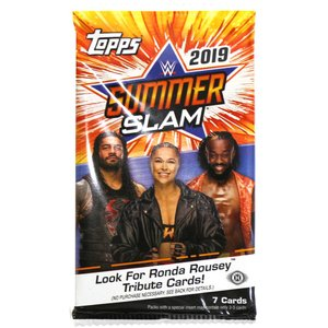 WWE 2019 Topps SummerSlam トレーディングカード 1パック bdrop