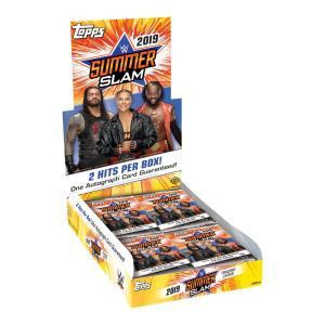 WWE 2019 Topps SummerSlam トレーディングカード 1BOX 24パック入 bdrop