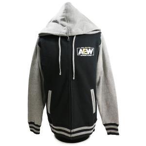XXLサイズ:AEW Logo Premium バーシティ ジャケット|bdrop
