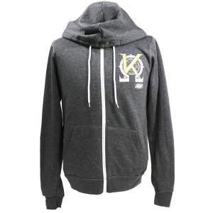 XXLサイズ:AEW Kenny Omega(ケニー・オメガ) Change the World チャコールジップパーカー(薄手)|bdrop