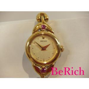 セイコー SEIKO ティセ レディース 腕時計 1E20-0430 ゴールド 文字盤 SS ブレス...