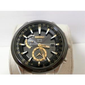 美品 セイコー アストロン SAST005 7X52-0AA0 ブライトチタン/セラミック ソーラー GPS電波 メンズ 腕時計【中古】【送料無料】 mk1195