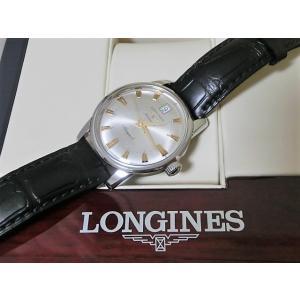 premium selection 51117 a1eff 美品 ロンジン L1.611.4.75.4 コンクエスト ヘリテージ メンズ 腕時計 デイト SS/レザー 自動巻き シルバー文字盤 LONGINES  【中古】 【送料無料】 mk1608