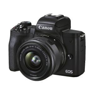 【新品】CANON キヤノン EOS Kiss M2 ダブルズームキット [ブラック] ミラーレスカメラ|beabea