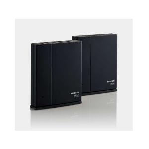 【新品】エレコム ELECOM WMC-2LX-B [ブラック] Wi-Fiルーター親機+中継器セット beabea
