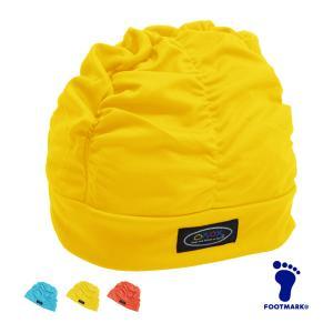 スイムキャップ ゆったりアクアキャップ ギャザー 水泳帽 スイミングキャップ 水着 ゆったり FOOT MARK フットマーク 508001(12色)ゆうパケット発送 beach-angel