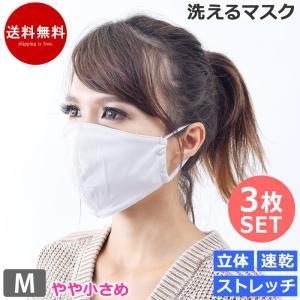 マスク 洗える 布マスク 大人用 3枚セット 水着マスク 速乾 子ども 小さめ 白 mask22 S〜L ネコポス送料無料 返品交換不可 beach-angel