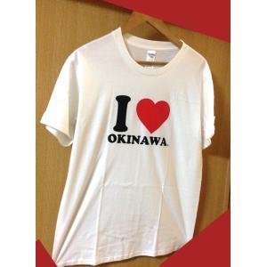 I LOVE okinawa!Tシャツ Tシャツ, 沖縄シャツ,S ,M, L,  サイズ,白,送料...