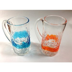 沖縄伝統の琉球ガラスから、出来ています。2個セット 約縦10・5cm  横(とって含む)10cmが2...