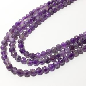 アメジスト 紫水晶 ラウンド 6mm 天然石 パワーストーン...