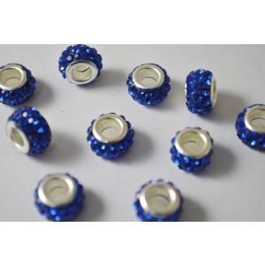 アクセサリーパーツ ロンデル 大穴 指輪 ブルー 12mm ...
