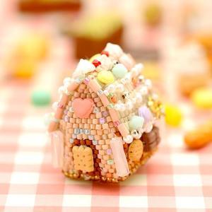 お菓子の家/キット/手芸/キット//ビーズ キット/ビーズレシピ/ミニチュアケーキ/スウィーツ ラ・メゾン・ドゥ・ガトー|beadsmania-shop