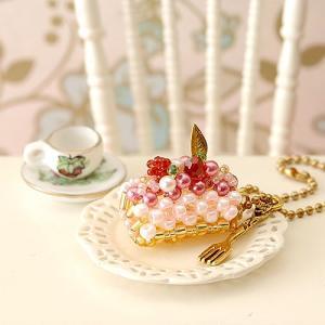 ビーズ キット ビーズファクトリー スウィーツチャームキット♪いちごのロールケーキ  春特集|beadsmania-shop