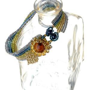 ビーズキット アクセサリー TOHO ≪ヘリンボーンステッチ≫ひまわりの花ブレスレット|beadsmania-shop