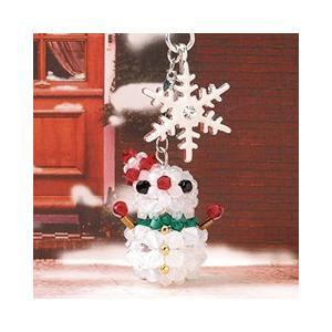 ビーズ キット クリスマス ホビックス 雪だるまストラップ|beadsmania-shop