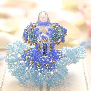 ビーズキット レシピ 【ミニチュアドレスチャームキット】blue bird|beadsmania-shop