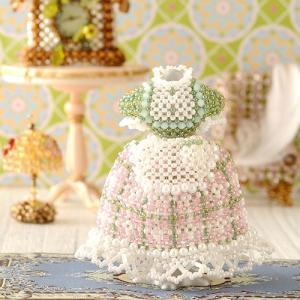 ビーズキット ビーズ キット カフェ ドレス 洋服 制服 【ミニチュアドレスキット】Angelina(グリーン) beadsmania-shop