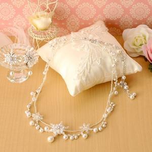ビーズキット アクセサリー Laciq Beads スノーフレークのネック&イヤー(ホワイト) beadsmania-shop