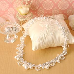ビーズキット アクセサリー Laciq Beads ジュエルレースのネック&イヤー(ホワイト)|beadsmania-shop