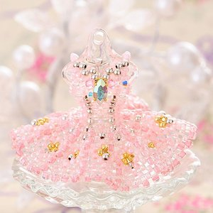 ビーズ キット レシピ 【ミニチュアドレスチャームキット】princess aurora|beadsmania-shop