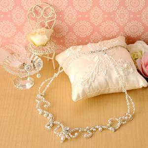 ビーズ キット アクセサリー Laciq Beads クレッセントジュエルのネックレス&イヤリング(ホワイト) beadsmania-shop