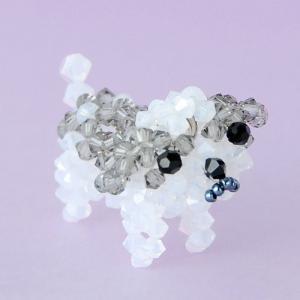 ビーズキット レシピ シーズー (ブラックダイヤ) キット|beadsmania-shop