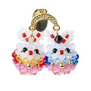 手作りキット 手芸 ビーズキット ハンドメイド 手芸 キット ひな祭り特集 ホビックス うさぎの桃びな|beadsmania-shop