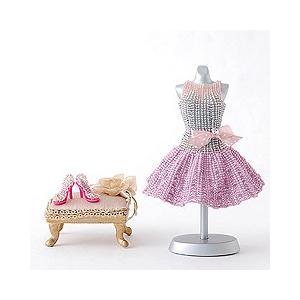 手作りキット 手芸 ビーズキット ハンドメイド 手芸 キット TOHO フレアスカートのリボン付きドレス&ハイヒール|beadsmania-shop