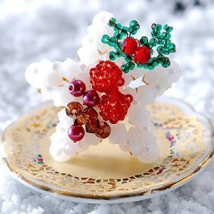 ビーズキット レシピ 星型ケーキ キット  【作家:ちばのぶよ】|beadsmania-shop