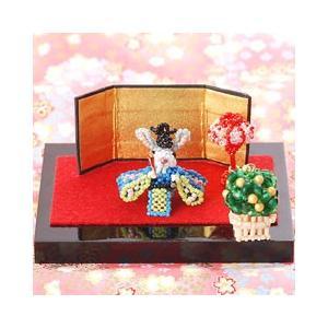 ビーズキット モチーフ ひな祭り特集 子うさぎ初めてシリーズ〜ひな祭り・おだいりさま〜  ビーズマニア|beadsmania-shop