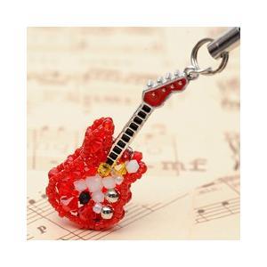 手作りキット 手芸 ビーズキット ハンドメイド 手芸 キット ホビックス エレキギター(赤)|beadsmania-shop