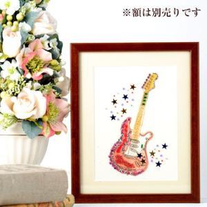 ビーズ キット 壁掛け ビーズファクトリー 〜Beads Decor〜エレキギター ※額は別売り|beadsmania-shop