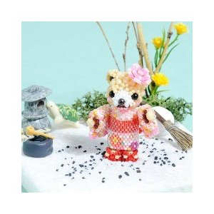 ビーズ キット モチーフ テディベアシリーズ〜ゆかたで夏祭り・女の子〜  夏特集 ビーズマニア|beadsmania-shop