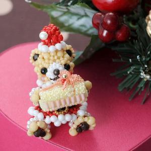 ビーズキット モチーフ テディベアシリーズ〜サンタクロースベア男の子〜  クリスマス特集 ビーズマニア|beadsmania-shop