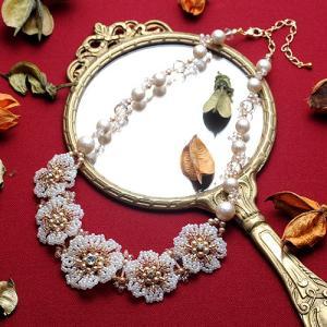 ビーズキット レシピ Lace Flower Necklace|beadsmania-shop