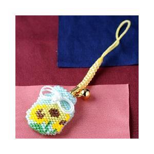 ビーズ キット 誕生花 ビーズファクトリー デリカビーズで作る香袋キット〜ヒマワリ(8月)〜|beadsmania-shop