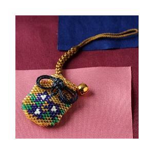 ビーズ キット 誕生花 ビーズファクトリー デリカビーズで作る香袋キット〜リンドウ(9月)〜|beadsmania-shop