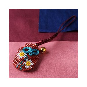 ビーズ キット 誕生花 ビーズファクトリー デリカビーズで作る香袋キット〜水仙(12月)〜|beadsmania-shop