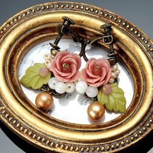 ビーズ キット レシピ 八重桜のピアスorイヤリング|beadsmania-shop