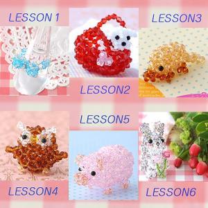 ビーズキット 初心者 【Lesson1〜6】キュートモチーフレッスンSET ビーズマニア|beadsmania-shop