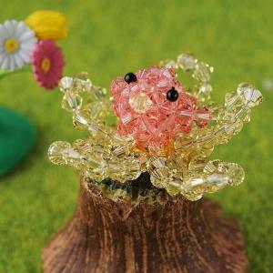 ビーズキット レシピ 花咲インコ ピンク|beadsmania-shop