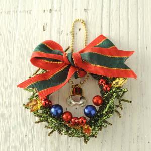 ビーズ キット クリスマス ビーズファクトリー クリスマスリース・グリーン|beadsmania-shop
